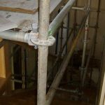 Scaffolding for mold remediation