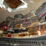 Fire damage to closet in Edina