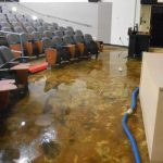 Auditorium at USF floods after major rain storm