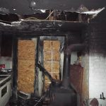 Los Angeles Fire Damage in a Kitchen