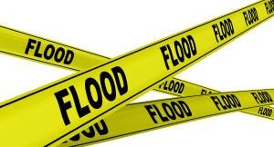 Наводнение (flood). Желтая оградительная лента