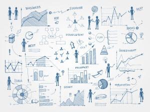 Doodle business management infographics elements