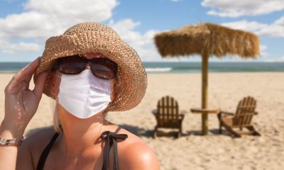 Vacationing Woman Wearing Face Mask